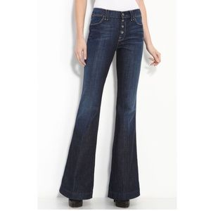 7 For All Mankind Bianca Flare Button Fly Jeans